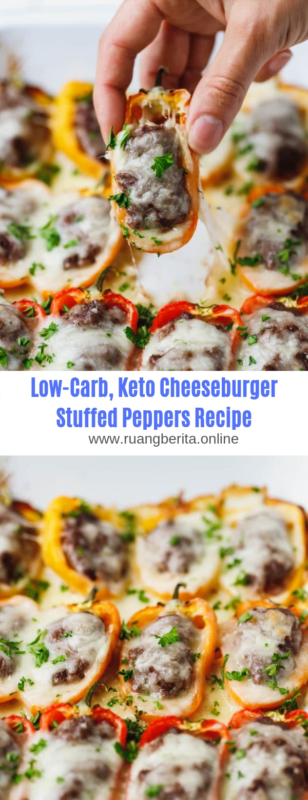 Low-Carb, Keto Cheeseburger Stuffed Peppers Recipe