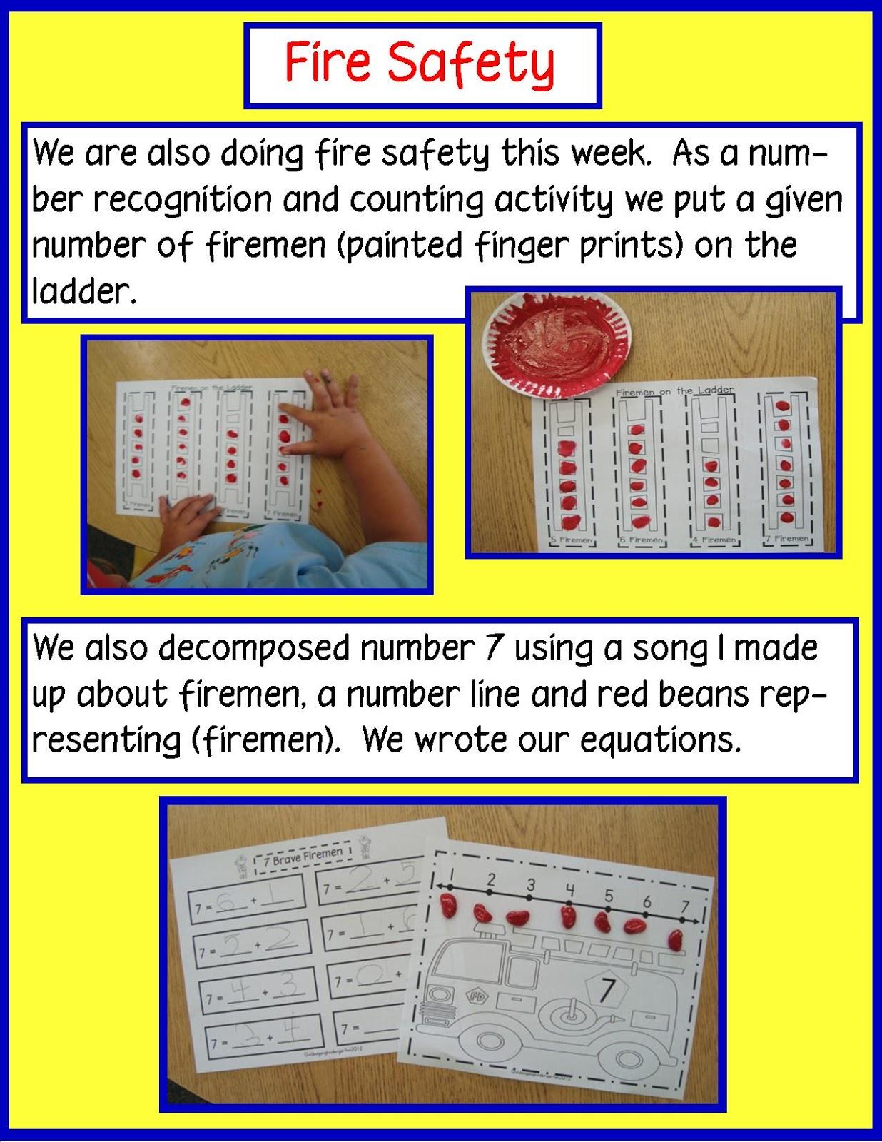 Golden Gang Kindergarten Columbus Day And Fire Safety