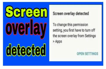 screen overlay detected band turn off kare