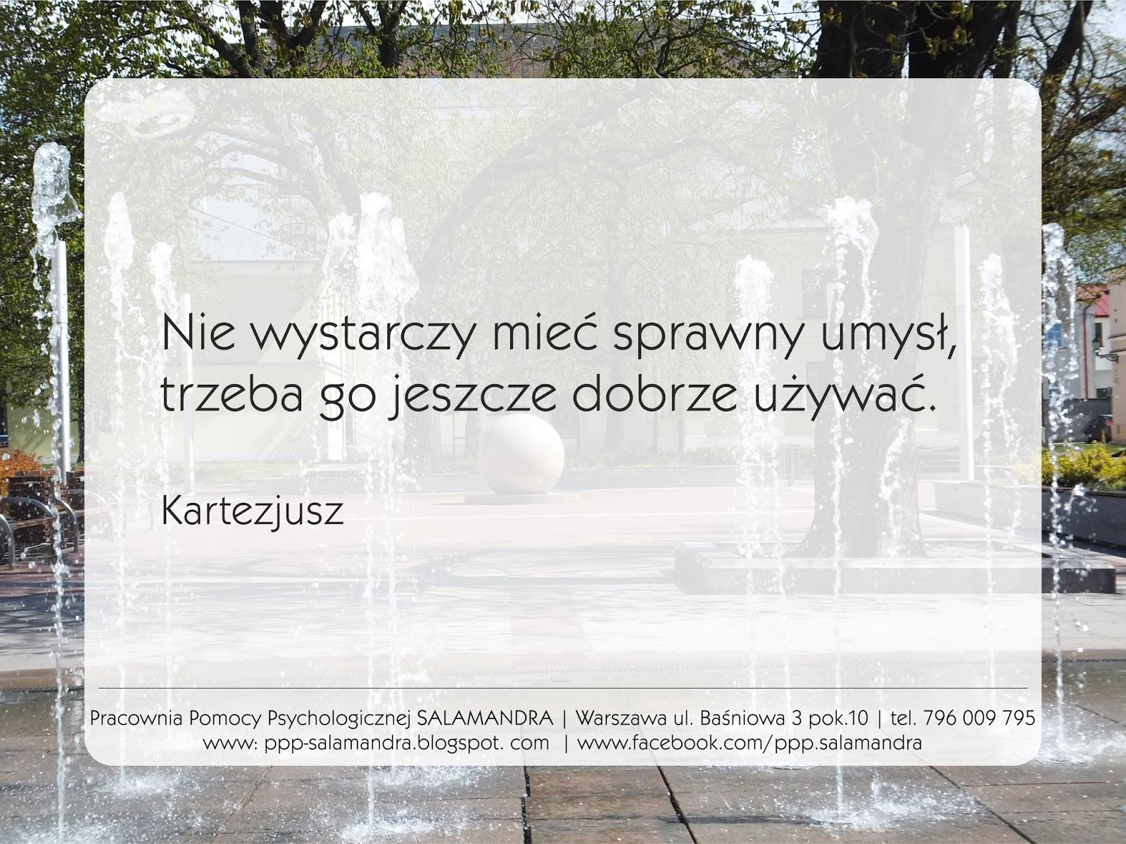 Dobry psycholog Warszawa oraz Kartezjusz o logice i myśleniu