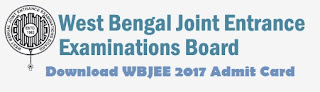 Download WBJEE(Main) Admit cards / Roll Numbers / Hall Tickets 2017
