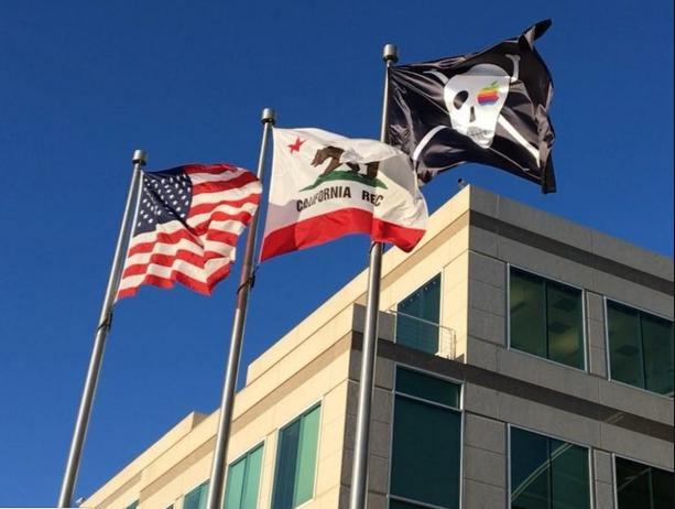 A Apple tem uma bandeira pirata voando sobre a sua sede