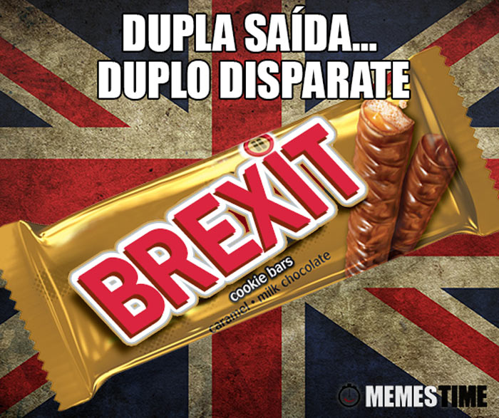 Meme TWIX transformado num BREXIT – Dupla Saída… Duplo Disparate.