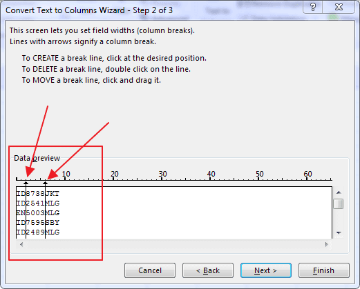 Fungsi Fixed Width Pada Text to Columns Excel