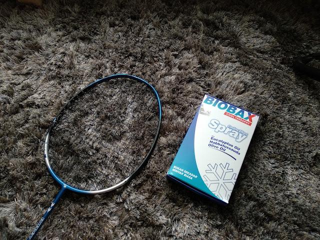biobax, cool theraphy, minyak legakan sakit otot dan sakit lutut, sakit lutut ketika bermain badminton, badminton,