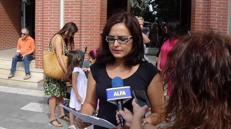 Παράσταση διαμαρτυρίας του Συλλόγου Γυναικών Αλεξανδρούπολης στο Δημαρχείο Αλεξανδρούπολης