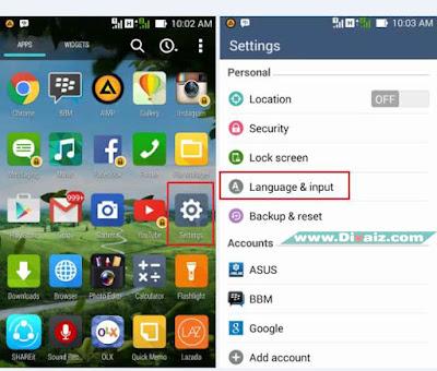 Mengganti Bahasa HP Android