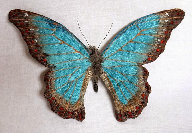 motyl haftowany