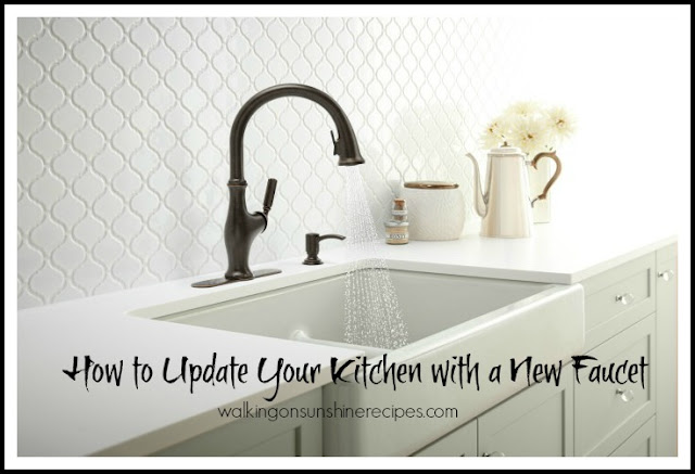 The kitchen is often the most renovated room in the house these days.  Here is a great tip to update your kitchen with a new faucet without a costly renovation.