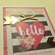 Hello card made with Simon Says Stamp card kit!