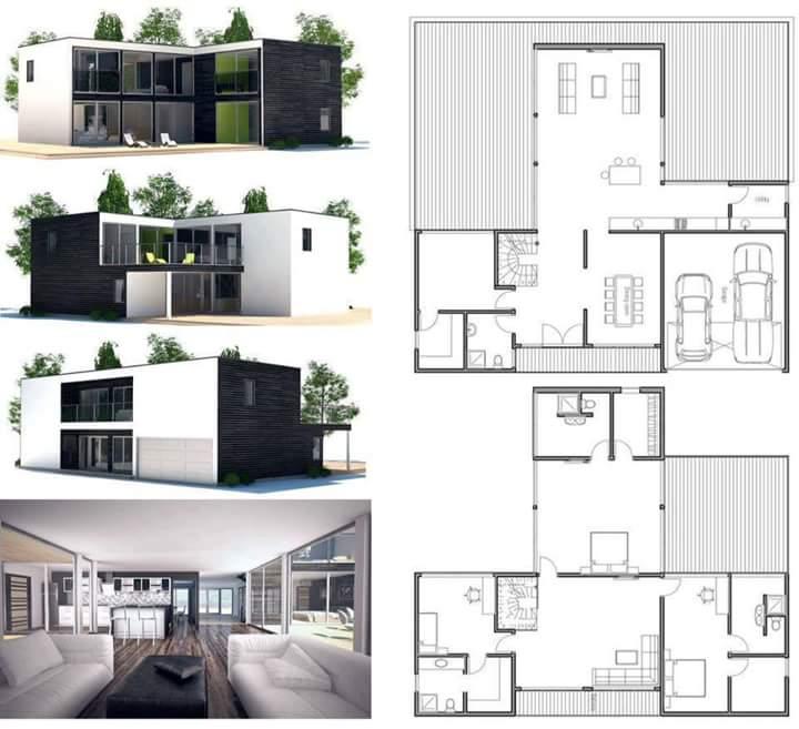 Desain Rumah Minimalis Kotak Berlantai 2