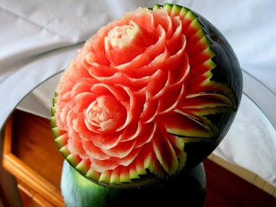 watermelon carving fruit arts