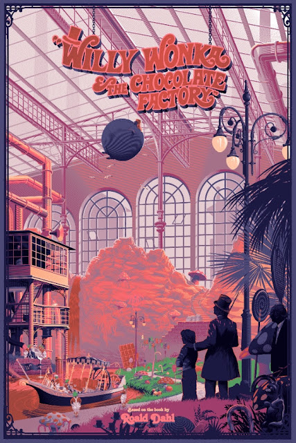Willy Wonka & The Chocolate Factory Regular Edition Screen Print by Laurent Durieux x Dark Hall Mansion