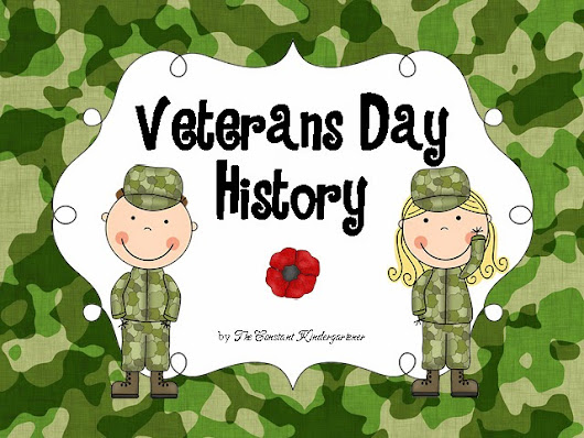 Veterans Day Social Studies - History for Pre-K and Kindergarten. A picture book, worksheets, and crafts!