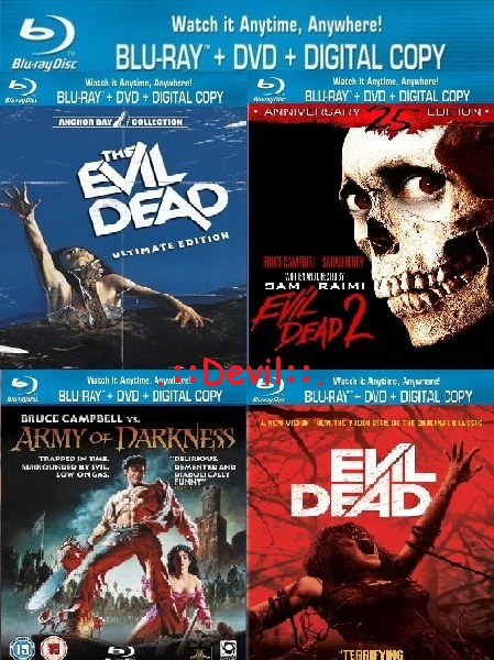 Evil Dead Quadrilogy (1981 - 2013) BR-Rip - x264 - 720p - [Telugu (3) + Tamil + Hindi + Eng] - 3.5GB