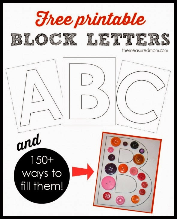 Epic image for block letters printable