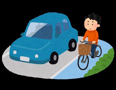 自転車専用道路を走る自転車のイラスト