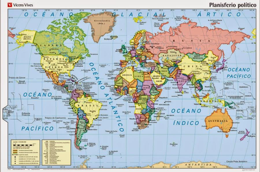 Mapa Para Jugar Dónde Está Continentes Y Océanos: Mapa Con Los Continentes Y Oceanos Cienciassociales Los
