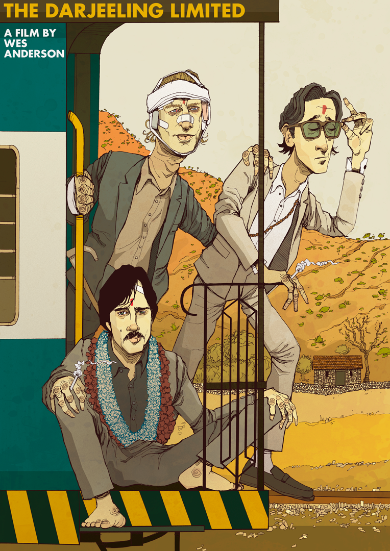 Wes Anderson Alt Movie Poster artwork Darjeeling Limited