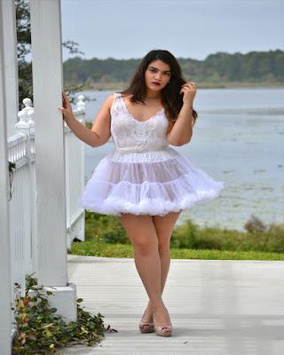 falda de ballet blanca transparente para gorditas