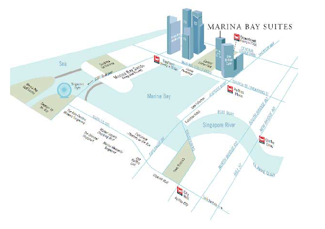 Marina Bay Suites Location
