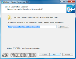 Pemasangan Adobe Photoshop CS4 Lite tahap tiga