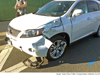 google's Self Driving Car Accident :  Watch The video