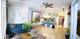 phòng khách cực đẹp của Căn hộ Sunshine Crystal River