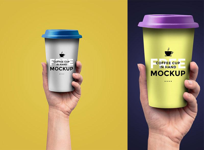 Hand Coffee Cup Mockup