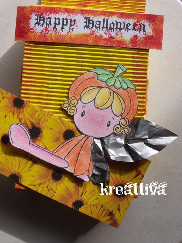 scatolina fatina zucca per halloween