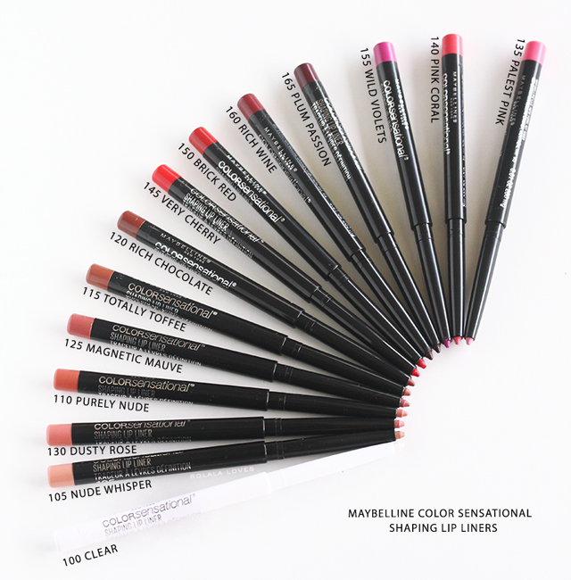 Maybelline Color Sensational Shaping Lip Liner Review,  Maybelline Color Sensational,  Maybelline Color Sensational Lip Liner Swatches, Maybelline Color Sensational Lip Color