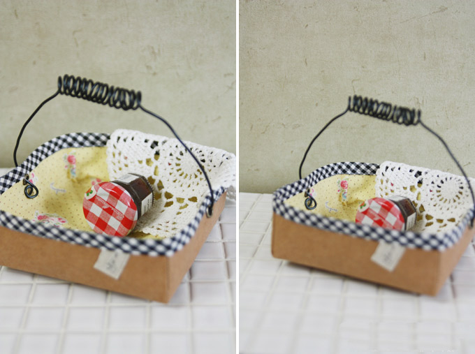 How to sew Basket of kraft paper and fabric. DIY Pattern & Tutorial in Pictures.