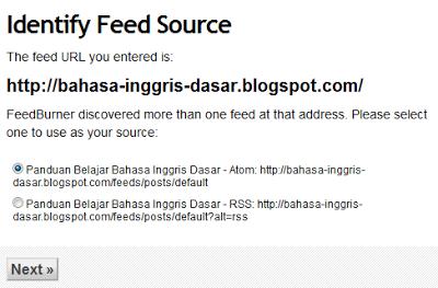 memilih feed untuk blog