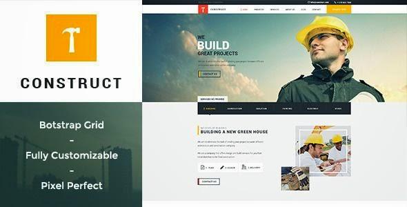 Best Building & Construction PSD Template