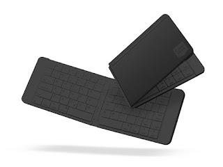 Handy Wireless Keyboard Folds Up for Easy Transport