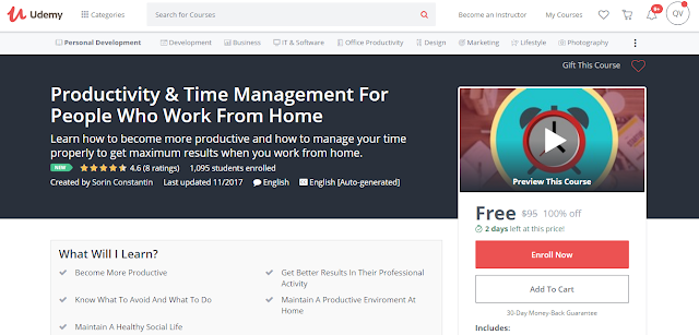 Productivity & Time Management For People Who Work From Home