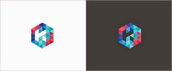 Kumpulan Desain Logo Low Poly - Kersvers Low Polygon Logo