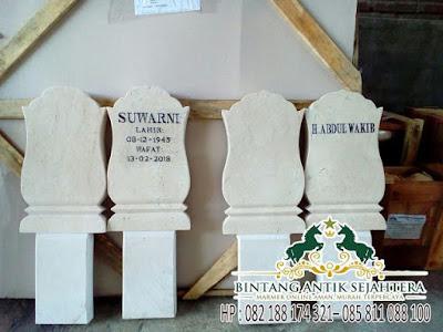 Contoh Nisan Patok, Batu Nisan Marmer Tulungagung, Harga Patok Kuburan