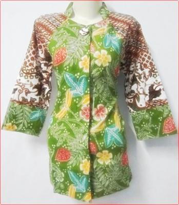 Model Baju Batik Kerja Wanita Modern Terbaru