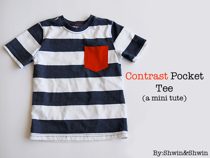 Contrast Pocket Tee Boys Summer Collection Shwin And Shwin