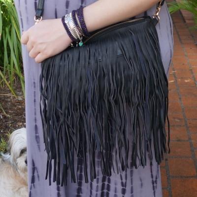 AwayFromTheBlue | Sash & Belle India fringed cross body bag in black