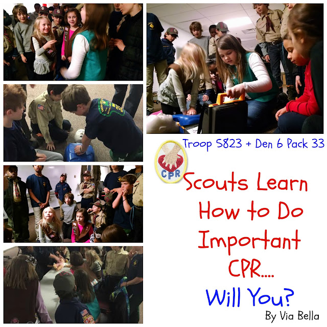 Scouts Learn CPR, CPR