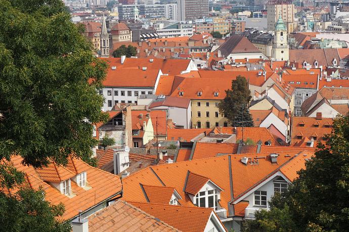 Orange roofs Bratislava