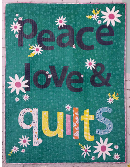 Sew Hippie Quilt Designed by Emily Lockhart of Windham Fabrics, Featuring Daisy Chain by Annabel Wrigley