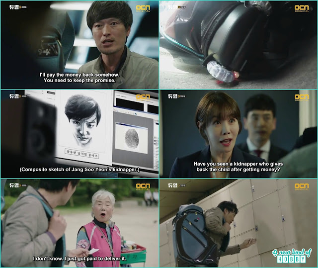 chief jung with golf bag fullof money in search of his daughter - Duel: Episode 1 & 2 korean drama