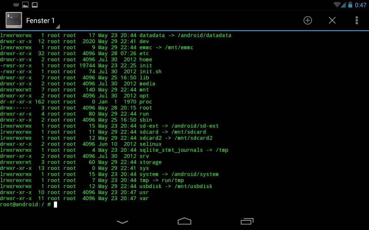 موطن الهاكر: Terminal Emulator for Android
