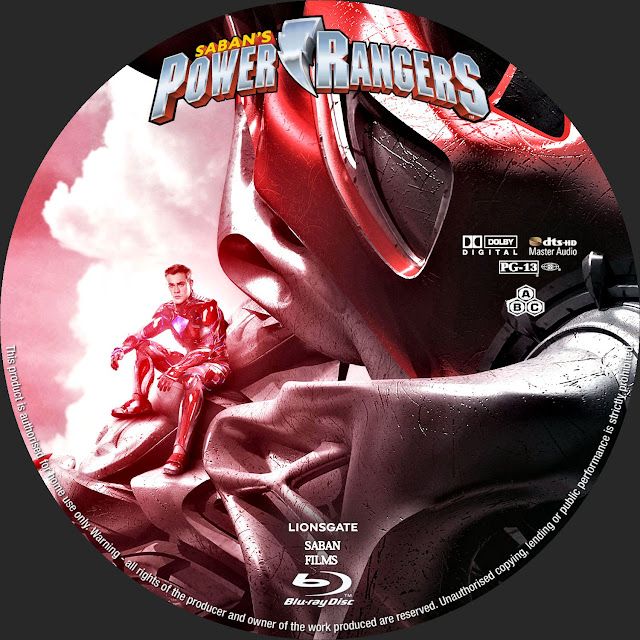 Label Bluray Power Rangers