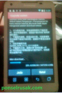 Stages of the manual update for lenovo s880 without pc