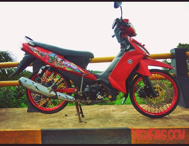 Modifikasi Vega RR Merah Modif Simple Velg Merah