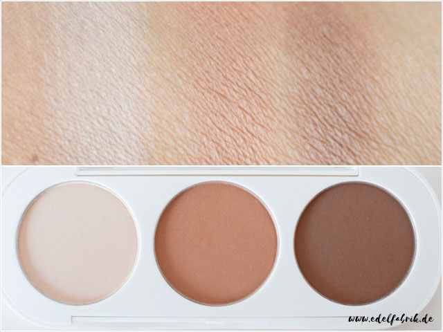 die edelfabrik, essence, get picture ready, contouring palette, swatch